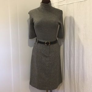 J.Crew belted wool blend pencil skirt size 8